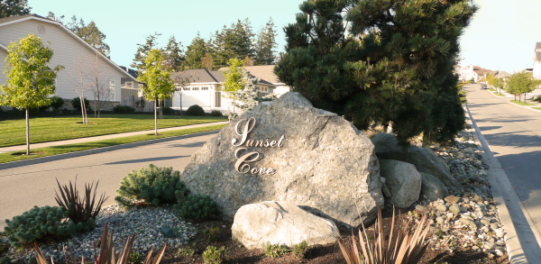 Sunset Cove Entry Sign